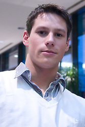 Brother Gal  Isakovic at press conference when his sister Sara has signed a contract with SI Sport, on December 22, 2008, Grand hotel Union, Ljubljana, Slovenia. (Photo by Vid Ponikvar / SportIda).