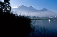 Morning view of Lake Atitlan, Santiago Atitlan, Guatemala