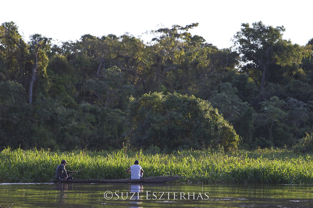 Fisherman on Cuiaba River<br /> Pantanal, Brazil