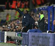 Queens Park Rangers manager Jimmy Floyd Hasselbaink during the Sky Bet Championship match between Queens Park Rangers and Brighton and Hove Albion at the Loftus Road Stadium, London, England on 15 December 2015.