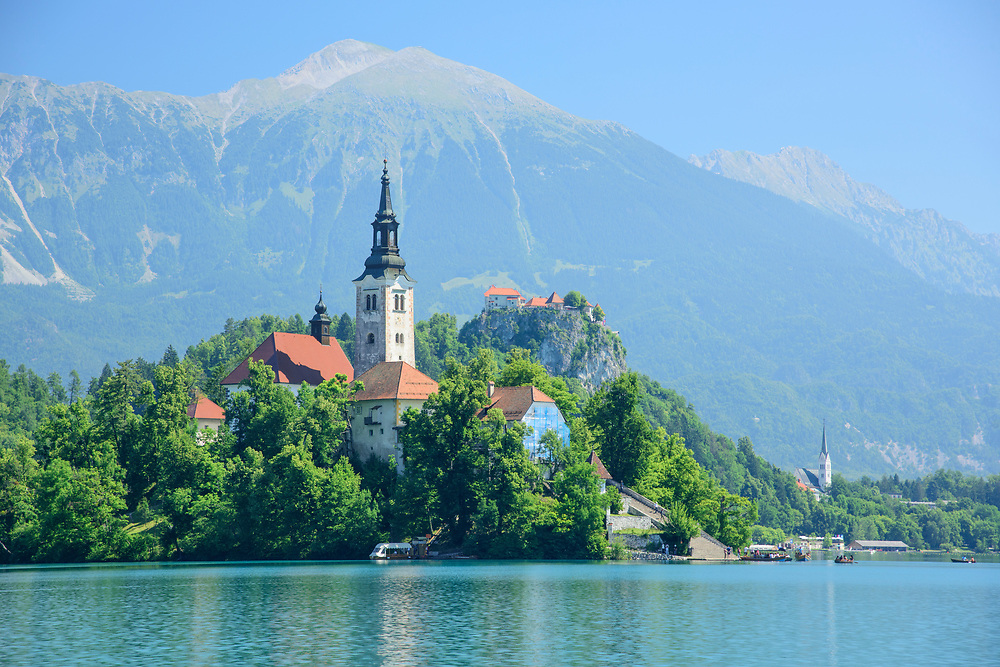 Europe, Balkan, Slovenia, Slovenian, Bled, Lake Bled and alps