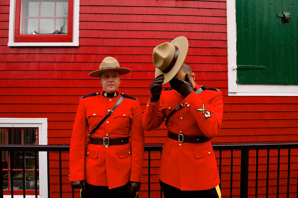 Mounties of the Royal Canadian Mounted Police in Nova Scotia.