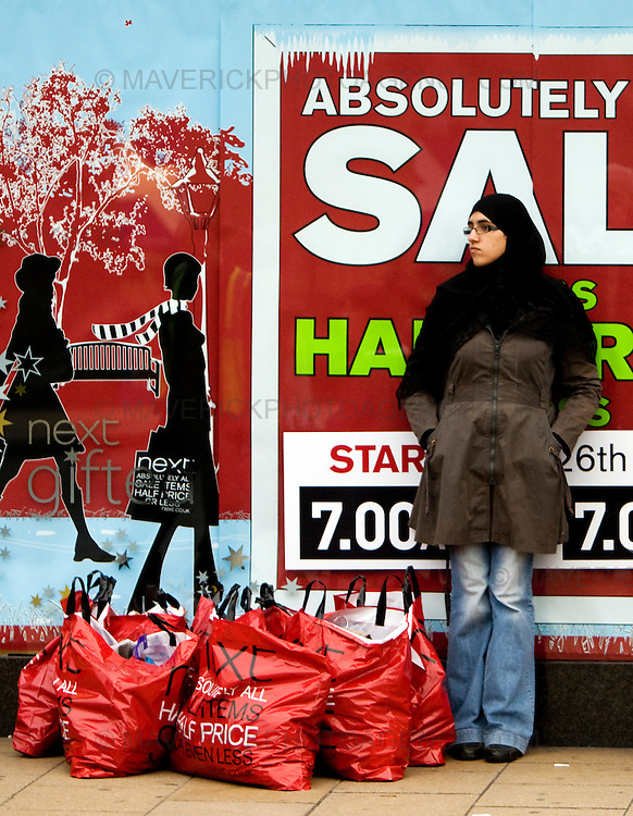 Shoppers in Edinburgh's Princes Street take advantage of the Boxing Day Sales.