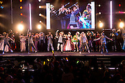 Popular J-pop singer May'n performing a tribute to cosplayers during the intermission at the World Cosplay Summit championship where she was also a guest judge.
