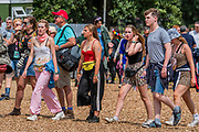 Henham Park, Suffolk, 20 July 2019. A sunny morning with little sign of the showers to come. The 2019 Latitude Festival.