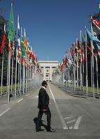 GENF, Fussball, Euro 2008 Vorschau, Staedte, Genf,Blick auf das UNO Gebaeude in Genf  ,Foto:Pressefoto Ulmer/Schaadfoto/Andreas Schaad PUBLICATION NOT IN AUT