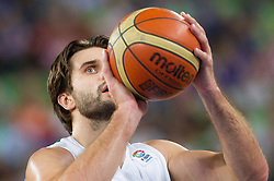 Linas Kleiza #11 of Lithuania during basketball match between National teams of Lithuania and Croatia in Semifinals at Day 17 of Eurobasket 2013 on September 20, 2013 in Arena Stozice, Ljubljana, Slovenia. (Photo by Vid Ponikvar / Sportida.com)