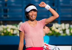 February 21, 2019 - Dubai, ARAB EMIRATES - Su-Wei Hsieh of Chinese Taipeh celebrates winning her quarter-final match at the 2019 Dubai Duty Free Tennis Championships WTA Premier 5 tennis tournament (Credit Image: © AFP7 via ZUMA Wire)