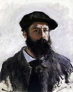 Claude Monet (1840-1926) French Impressionist painter. 'Self-portrait in Beret' 1886