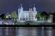 The Tower of London at night, England, UK