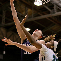 Feb 3, 2016; New Orleans, LA, USA; Connecticut Huskies forward Breanna Stewart (30) shoots over Tulane Green Wave forward Harlyn Wyatt (25) during the first quarter of a game at the Devlin Fieldhouse. Mandatory Credit: Derick E. Hingle-USA TODAY Sports