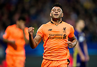 MARIBOR, SLOVENIA - OCTOBER 17: Alex Oxlade-Chamberlain of Liverpool FC celebrates after scoring sixth goal for Liverpool during UEFA Champions League 2017/18 group E match between NK Maribor and Liverpool FC at Stadium Ljudski vrt, on October 17, 2017 in Maribor, Slovenia. (Photo by Vid Ponikvar / Sportida)