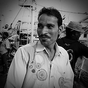 Berulal is from Chittorgarh in Rajasthan. Sells tea at Betim fishing harbour in Goa. &quot;It's better to sell tea here than break stones back in Rajasthan&quot; he says.<br /> <br /> According to scholars, Ravi Srivastava of Jawaharlal Nehru University and S.K. Sasikumar<br /> of V. V. Giri National Labour Institute- In some parts of India, three out of four households,include a migrant. However despite the large scale of migration in absolute numbers of people involved and India&rsquo;s long history of population and labour mobility,labour migration has rarely been reliably studied.