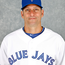 March 2, 2012; Dunedin, FL, USA; Toronto Blue Jays first base coach Torey Lovullo (7) poses for a portrait during photo day at Florida Auto Exchange Stadium.  Mandatory Credit: Derick E. Hingle-US PRESSWIRE