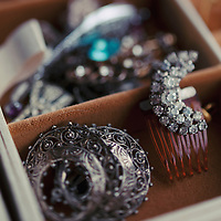 Some old jewellery sitting in a jewellery box