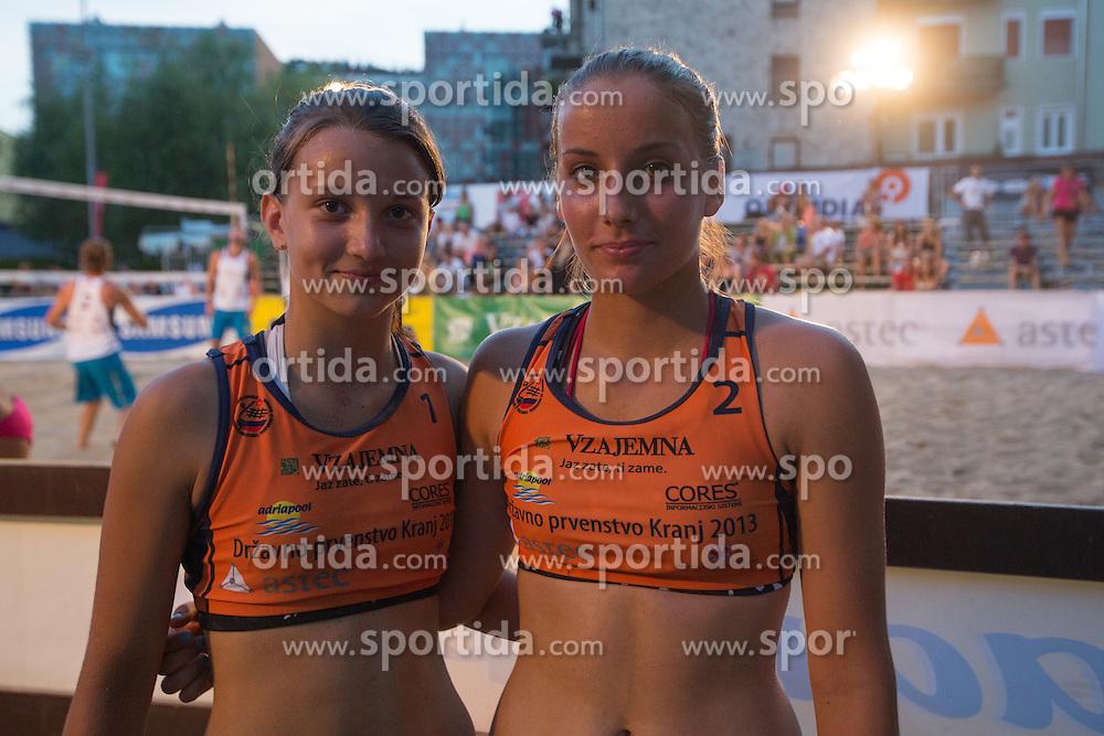 Daja Gorisek and Tajda Lovsin at tournament for Slovenian national championship - Drzavno prvenstvo Kranj 2013 on July 26, 2013, in Kranj, Slovenia. (Photo by Matic Klansek Velej / Sportida)