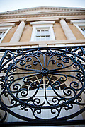 Decorative ironwork on the Old Exchange Building now called the Provost Dungeon Charleston, SC.