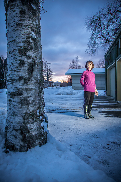 "Rental owner Christine Yi in front of her home in Bootler's Cove in Anchorage.  ""If I could be anything, I would like to be a police officer"".  yich83@gmail.com"