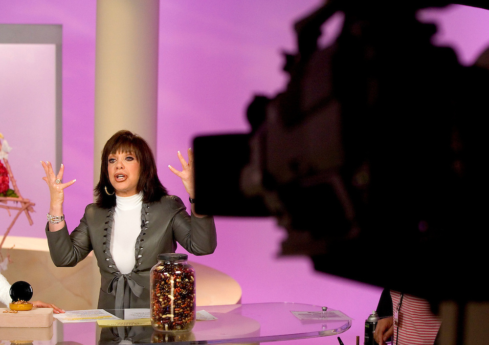 SPECIAL TO THE PALM BEACH POST---Adrienne Arpel talks up her products during a live show for her Signature A cosmetics on the Home Shopping Network on Friday, March 18, 2005 in St. Petersburg, Fla. (AP Photo/Scott Audette)