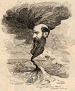 Wilfred Lawson (1829-1906) English Liberal politician and leader of the Temperance movement which opposed the drinking of alcohol.  Other causes he supported were the Disestablishment of the Church of England, Disarmament, and the abolition of the House of Lords.  Cartoon by Edward Linley Sambourne in the Punch's Fancy Portraits series from 'Punch' (London, 11 March 1882).
