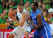DESCRIZIONE : Vilnius Lithuania Lituania Eurobasket Men 2011 Second Round Lituania Francia Lithuania France<br /> GIOCATORE : Jonas Valanciunas<br /> CATEGORIA : palleggio penetrazione difesa<br /> SQUADRA : Lituania Lithuania<br /> EVENTO : Eurobasket Men 2011<br /> GARA : Lituania Francia Lithuania France<br /> DATA : 09/09/2011<br /> SPORT : Pallacanestro <br /> AUTORE : Agenzia Ciamillo-Castoria/T.Wiendesohler<br /> Galleria : Eurobasket Men 2011<br /> Fotonotizia : Vilnius Lithuania Lituania Eurobasket Men 2011 Second Round Lituania Francia Lithuania France<br /> Predefinita :