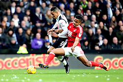 Thomas Ince of Derby County is tackled by Michael Mancienne of Nottingham Forest - Mandatory by-line: Robbie Stephenson/JMP - 11/12/2016 - FOOTBALL - iPro Stadium - Derby, England - Derby County v Nottingham Forest - Sky Bet Championship
