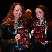 Fans wait to meet author Anne Rice during a backstage book signing after a Writers on a New England Stage show at The Music Hall in Portsmouth, NH
