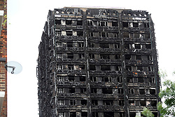UK ENGLAND LONDON 14JUL17 - Views of the burnt-out shell of Grenfell Tower in north Kensington, west London, one month after the disaster that left over 80 people dead.<br /> <br /> jre/Photo by Jiri Rezac<br /> <br /> &copy; Jiri Rezac 2017