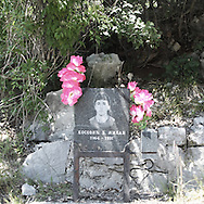 a trombstone of a young man dead in a car accident.There are several arguments about the derivation of the name  &quot;Montenegro&quot;, one of these relates to dark and deep forests  that once covered the Dinaric Alps, as it was possible to see them from the sea. <br /> Mostly mountainous with 672180 habitants on an area of 13812 Km&sup2;, with a population density of  48 habitants/Km&sup2;. <br /> It borders with Bosnia, Serbia, Croatia, Kosovo and Albania but  Montenegro has always been alien to the bloody political events that characterized Eastern Europe in recent decades. <br /> From 3 June 2006, breaking away from Serbia, Montenegro became an independent state. <br /> In the balance between economy devoted to sheep farming and a shy tourist, mostly coming from Bosnia and Herzegovina, Montenegro looks to Europe with a largely unspoiled natural beauty. <br /> Several cities in Montenegro, as well as the park Durmitor, considered World Heritage by UNESCO but not yet officially because Montenegro has yet to ratify the World Heritage Convention of UNESCO.