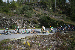 The peloton is streched out on Stage 3 of the Ladies Tour of Norway - a 156.6 km road race, between Svinesund (SE) and Halden on August 20, 2017, in Ostfold, Norway. (Photo by Balint Hamvas/Velofocus.com)