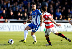 Brad Walker of Hartlepool United passes the ball - Mandatory by-line: Robbie Stephenson/JMP - 06/05/2017 - FOOTBALL - The Northern Gas and Power Stadium (Victoria Park) - Hartlepool, England - Hartlepool United v Doncaster Rovers - Sky Bet League Two