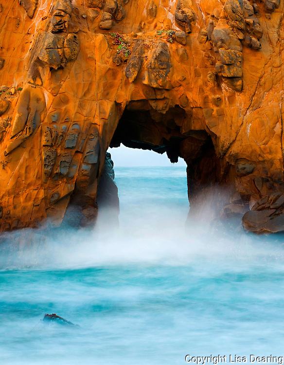 Sea Arch,  Julia Pfieffer Beach, Big Sur, California