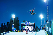 Torin Yater-Wallace during Men's Ski Superpipe Practice at 2014 X Games Aspen at Buttermilk Mountain in Aspen, CO. ©Brett Wilhelm/ESPN