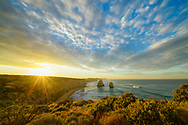 Oceania, Australia, Australian, Down Under, Victoria, Port Campbell National Park, The Twelve Apostles at sunrise