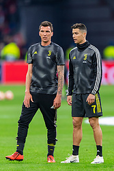 10-04-2019 NED: Champions League AFC Ajax - Juventus,  Amsterdam<br /> Round of 8, 1st leg / Ajax plays the first match 1-1 against Juventus during the UEFA Champions League first leg quarter-final football match / Cristiano Ronaldo #7 of Juventus, Mario Mandzukic #17 of Juventus