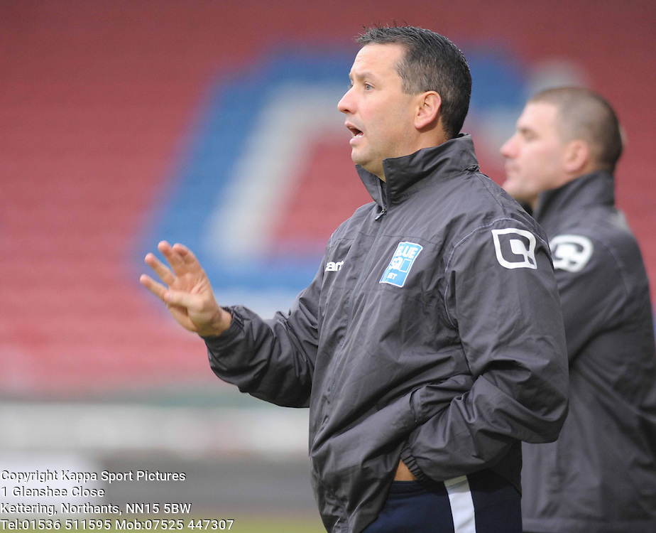LIAM WATSON, MANAGER, SOUTHPORT, Kettering Town v Southport, Blue Square Premier, Nene Park Saturday 5th November 2011