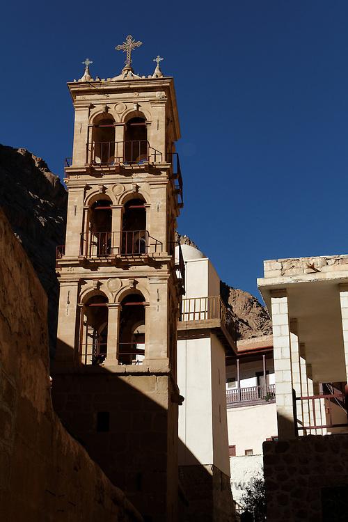 Kirkespir og minaret i St. Katarinaklosteret