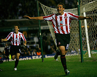 Photo: Steve Bond.<br />Birmingham City v Sunderland. The FA Barclays Premiership. 15/08/2007. Michael Chopra celebrates