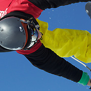 Kalle Hilden, Finland, in action in the Halfpipe Finals during The North Face Freeski Open at Snow Park, Wanaka, New Zealand, 3rd September 2011. Photo Tim Clayton.