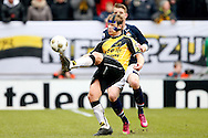 Onderwerp/Subject: NAC Breda - Willem II - Eredivisie<br /> Reklame:  <br /> Club/Team/Country: <br /> Seizoen/Season: 2012/2013<br /> FOTO/PHOTO: Tim GILISSEN (FRONT) of NAC Breda wearing a protective mask in duel with Kevin BRANDS (BEHIND) of Willem II. (Photo by PICS UNITED)<br /> <br /> Trefwoorden/Keywords: <br /> #04 #06 $94 &plusmn;1355238527106<br /> Photo- &amp; Copyrights &copy; PICS UNITED <br /> P.O. Box 7164 - 5605 BE  EINDHOVEN (THE NETHERLANDS) <br /> Phone +31 (0)40 296 28 00 <br /> Fax +31 (0) 40 248 47 43 <br /> http://www.pics-united.com <br /> e-mail : sales@pics-united.com (If you would like to raise any issues regarding any aspects of products / service of PICS UNITED) or <br /> e-mail : sales@pics-united.com   <br /> <br /> ATTENTIE: <br /> Publicatie ook bij aanbieding door derden is slechts toegestaan na verkregen toestemming van Pics United. <br /> VOLLEDIGE NAAMSVERMELDING IS VERPLICHT! (&copy; PICS UNITED/Naam Fotograaf, zie veld 4 van de bestandsinfo 'credits') <br /> ATTENTION:  <br /> &copy; Pics United. Reproduction/publication of this photo by any parties is only permitted after authorisation is sought and obtained from  PICS UNITED- THE NETHERLANDS