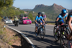 Lorena Llamas (ESP) of Movistar Women's Team rides in the second group on Stage 2 of the Setmana Ciclista Valenciana - a 115 km road race, between Castello and Vila-Real on February 23, 2018, in Valencia, Spain. (Photo by Balint Hamvas/Velofocus.com)