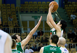 Saso Ozbolt of Union Olimpija at first semifinals basketball match of Slovenian Men UPC League between KK Union Olimpija and KK Zlatorog Lasko, on May 15, 2009, in Arena Tivoli, Ljubljana, Slovenia. Zlatorog won 70:66. (Photo by Vid Ponikvar / Sportida)