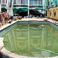 Car Wedged into Hotel After Tsunami on Patong Beach in Phuket, Thailand <br />