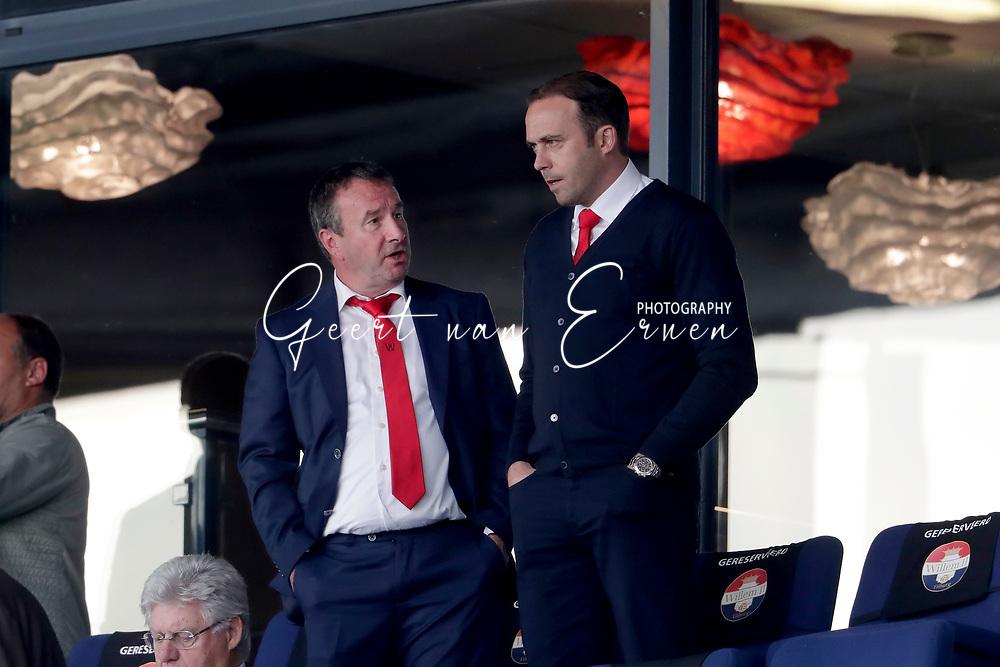 (L-R) Jan Scheerlinck board member of Willem II, Technical Manager Joris Mathijssen of Willem II
