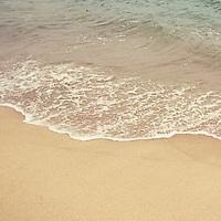 Ocean waters along the beach in Nantucket