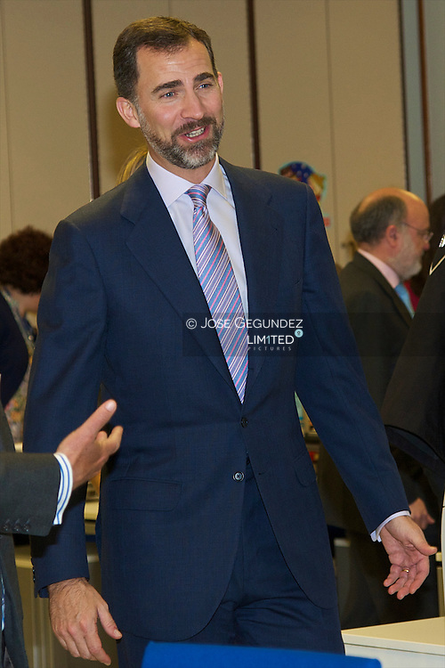 Prince Felipe and Princess Letizia attend the Visit the headquarters of the Cadena Cope RadioStation
