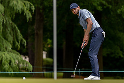 May 4, 2019 - Charlotte, NC, U.S. - CHARLOTTE, NC - MAY 04: Kyle Stanley watches his putt on the 3rd green  during the third round of the Wells Fargo Championship at Quail Hollow on May 4, 2019 in Charlotte, NC. (Photo by William Howard/Icon Sportswire) (Credit Image: © William Howard/Icon SMI via ZUMA Press)
