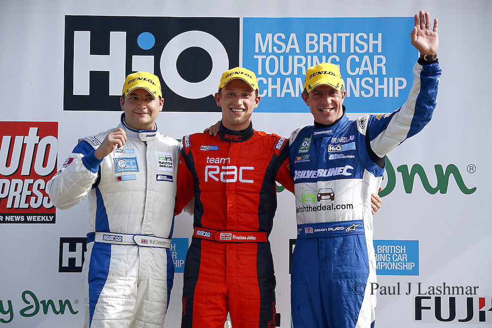 BTCC Rockingham Race 1 winners podium