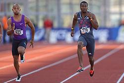 31-07-2015 NED: Asics NK Atletiek, Amsterdam<br /> Nk outdoor atletiek in het Olympische stadion Amsterdam /  Yohan Blake JAM, Hensley Paulina #623
