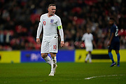 Wayne Rooney of England during the International Friendly match between England and USA at Wembley Stadium, London, England on 15 November 2018.